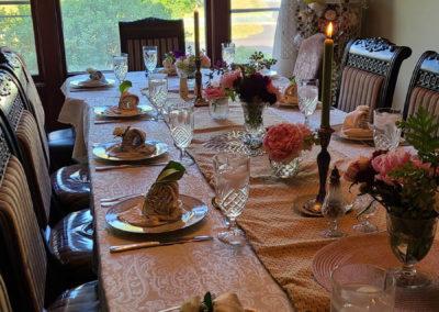 Long Table Dining | Cherry Tree Inn B&B, Woodstock, IL