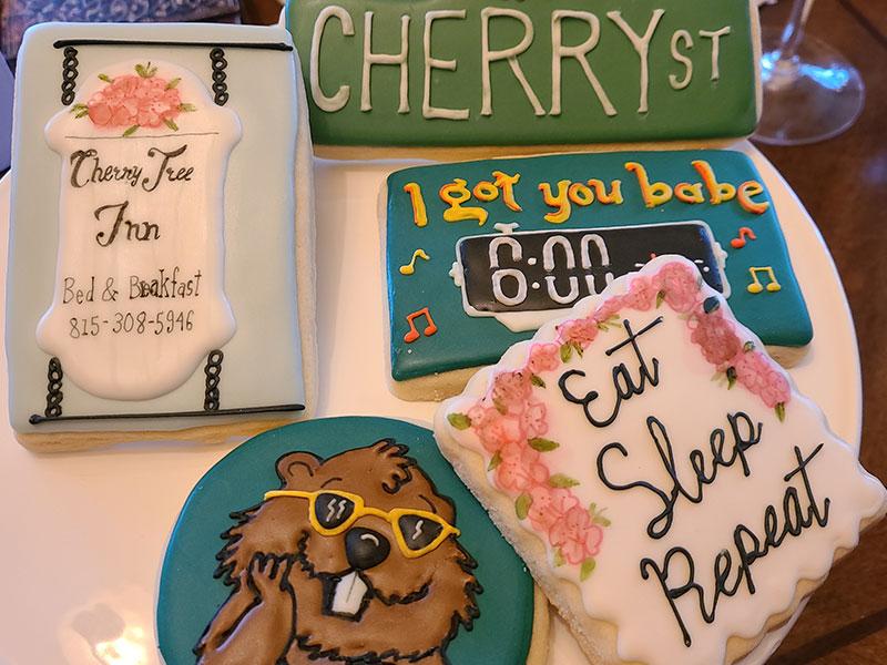Custom Cookies | Cherry Tree Inn | The Groundhog Day House | IL