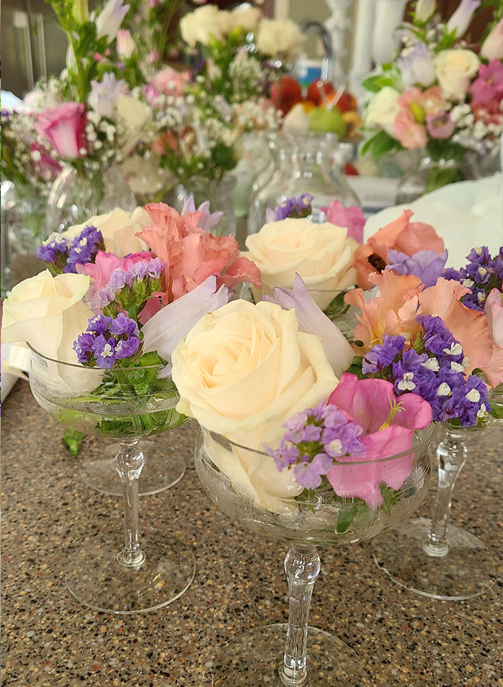 Glass Flower Packages | Cherry Tree Inn | The Groundhog Day House | IL